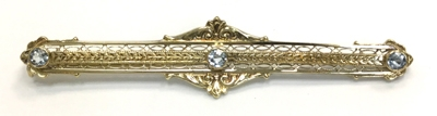 Antique Diamond Bar Pin