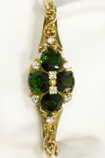 Green Tourmaline Diamond 14kt YG Bracelet $7,000 sold