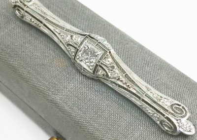 Antique Diamond Bar Pin