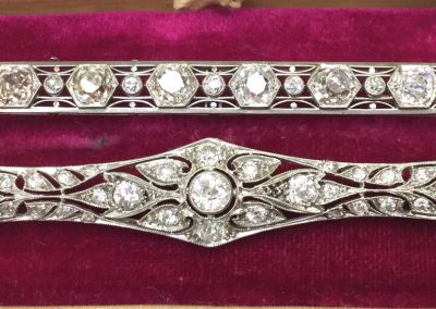 Estate Diamond Bar Pins