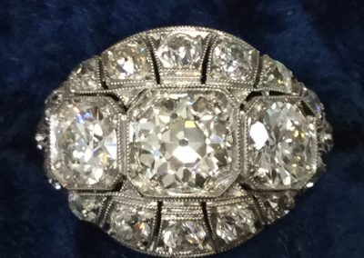 Estate Platinum 3 Diamond Ring