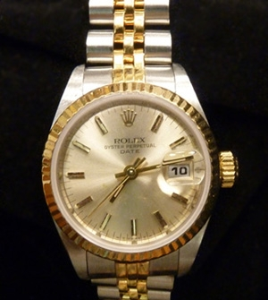 Rolex Oyster Perpetual Date Estate Watch $2,500.