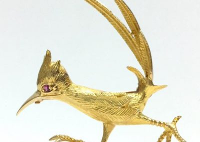 Vintage Gold Roadrunner Articulated Brooch ( Look out, he's in a hurry. Beep Beep sold